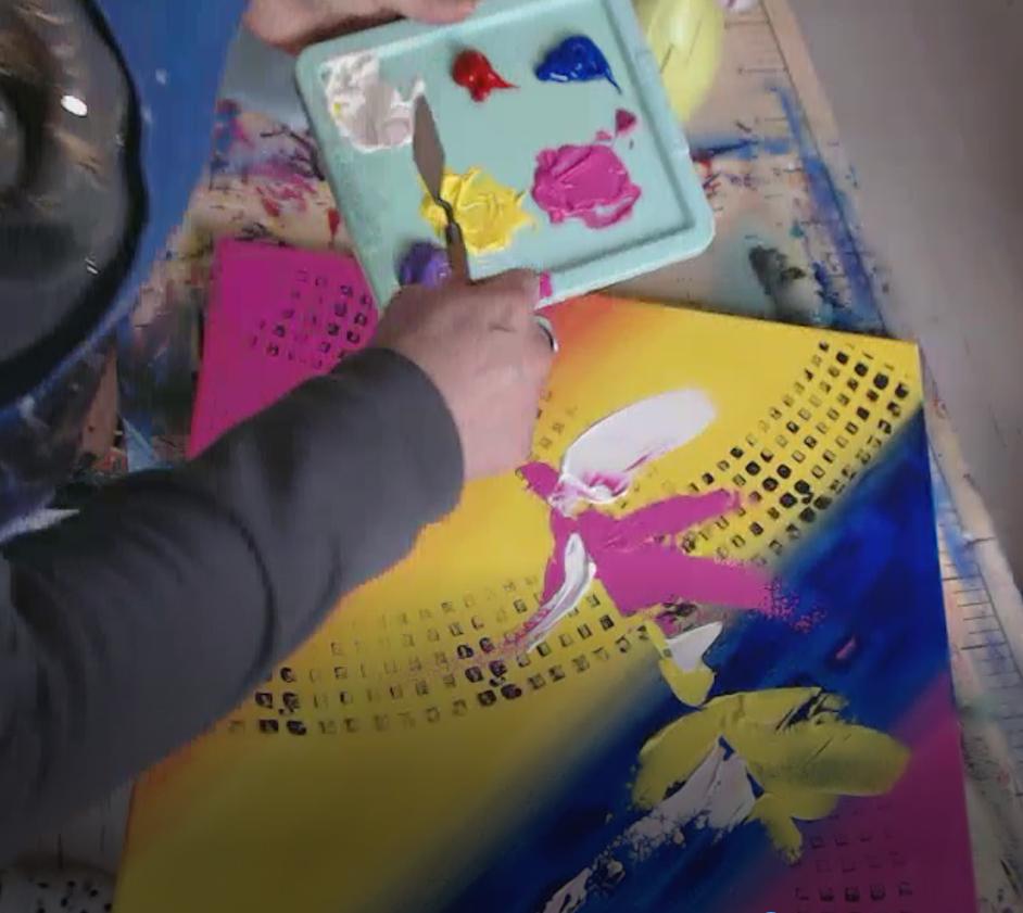 Fiche produit cours abstrait acrylique